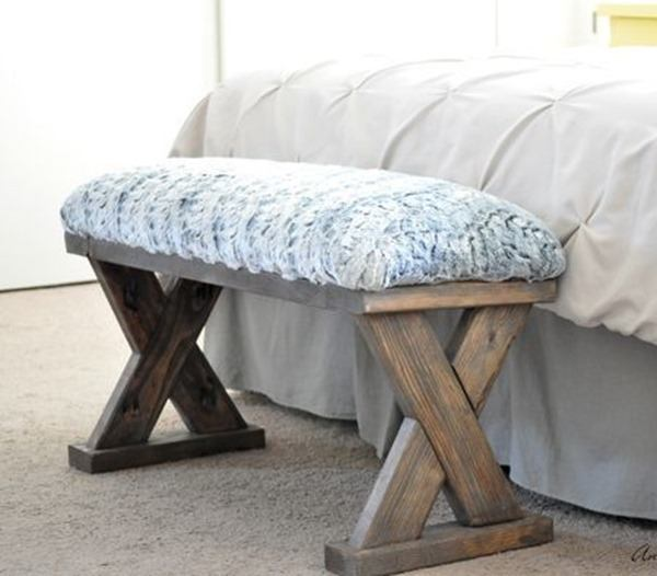 EASY Woodworking Project X-bench by Anika's DIY Live
