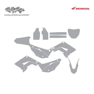Honda Polisport restyle kit CR125 CR250 2002-2007 Graphic Template