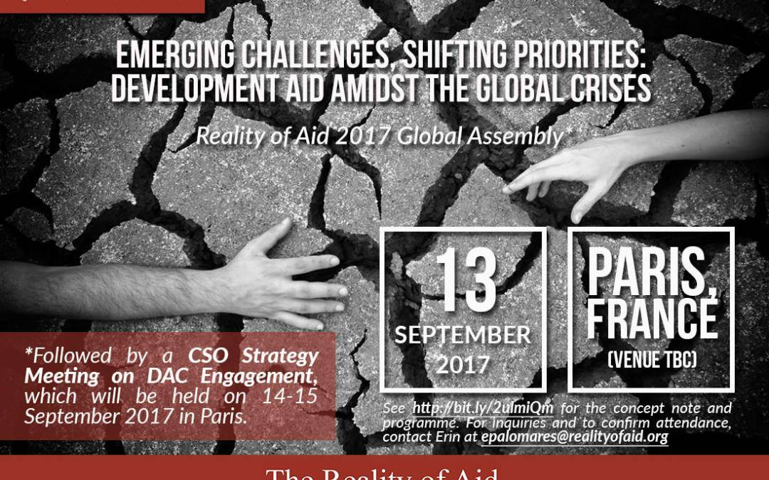RoA Global Assembly 2017 Emerging Challenges, Shifting Priorities: Development Aid amidst the Global Crises