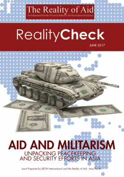 Aid and Militarism: Unpacking Peacekeeping and Security Efforts in Asia