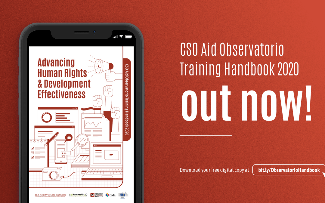 CSO AID Observatorio Training Handbook 2020 Out Now!