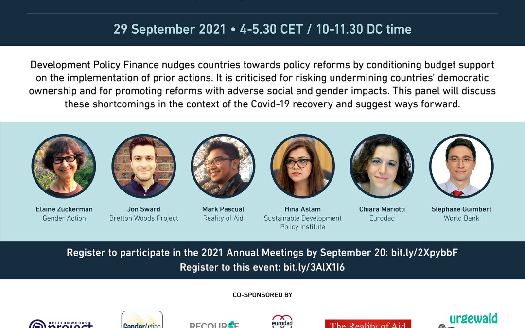 The World Bank's Development Policy Financing – Implications for a just, green and feminist recovery