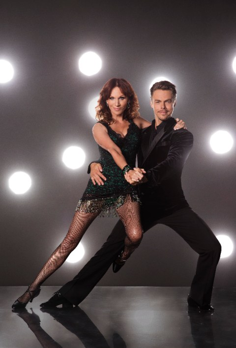 "DANCING WITH THE STARS - MARILU HENNER AND DEREK HOUGH - The stars grace the ballroom floor for the first time on live national television with their professional partners during the two-hour season premiere of ""Dancing with the Stars,"" which airs MONDAY, SEPTEMBER 12 (8:00-10:01 p.m., ET) on the ABC Television Network. (ABC/Craig Sjodin)"