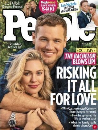 The Bachelor 2019 Spoilers - Colton and Cassie in People Magazine 2