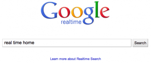 Google Real Time Home Page