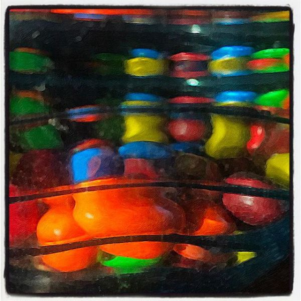 M&M's in Candy Bowl