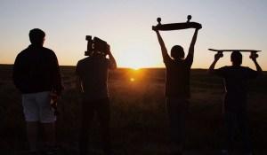 Friends who skateboard in grass secret benefit of confidence
