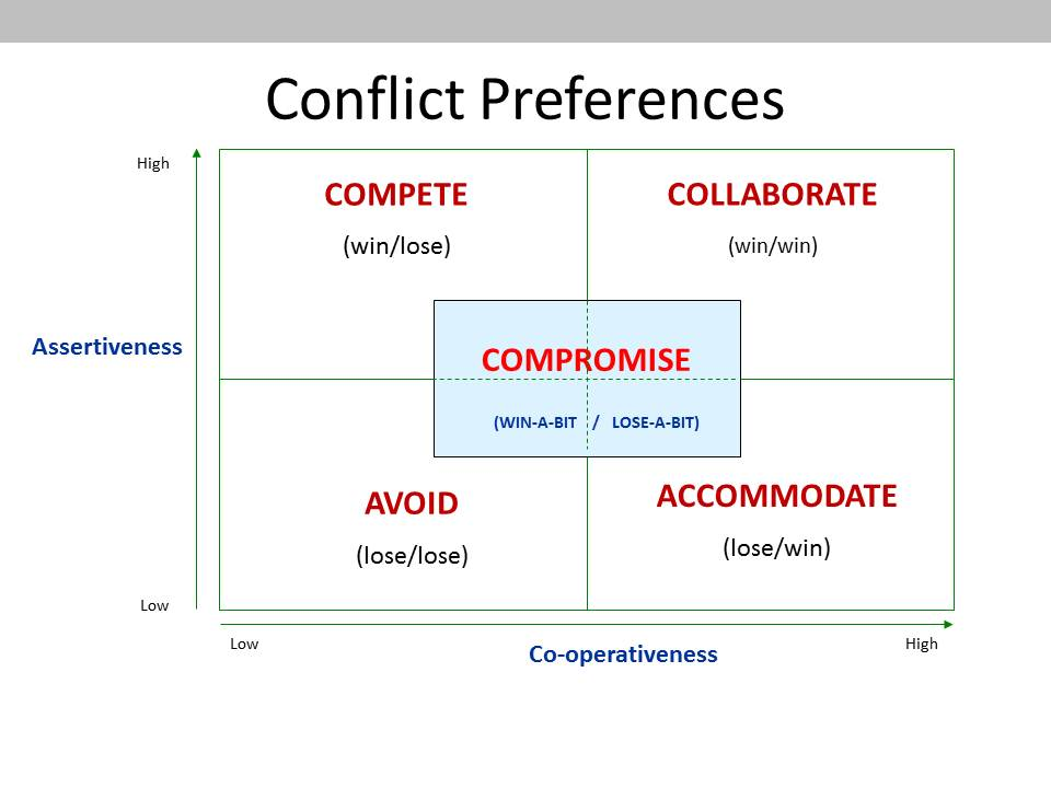 Negotiation styles accommodating lens