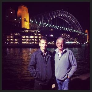 James and dad