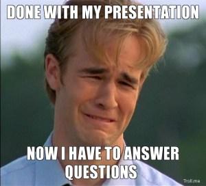 nervous presenter