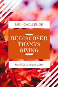 Rediscover Thanks Giving