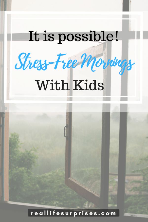 4 Tips to Stress-Free Mornings with Kids