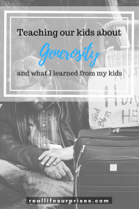 Teaching Our Kids about Generosity and What I Learned from Them