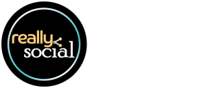 Really Social | your social media solution. really. (2016 logo with tagline)