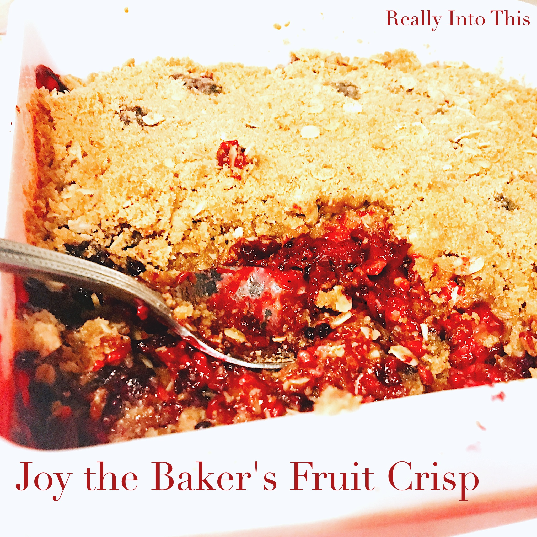 Joy the Baker Fruit Crisp Recipe Pinterest Instagram
