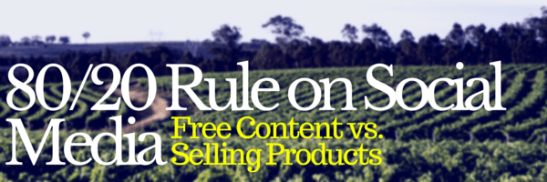 80-20 Rule on Social media