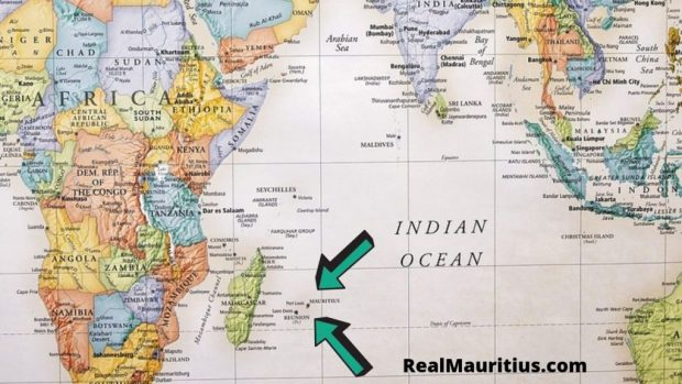 where is mauritius on world map