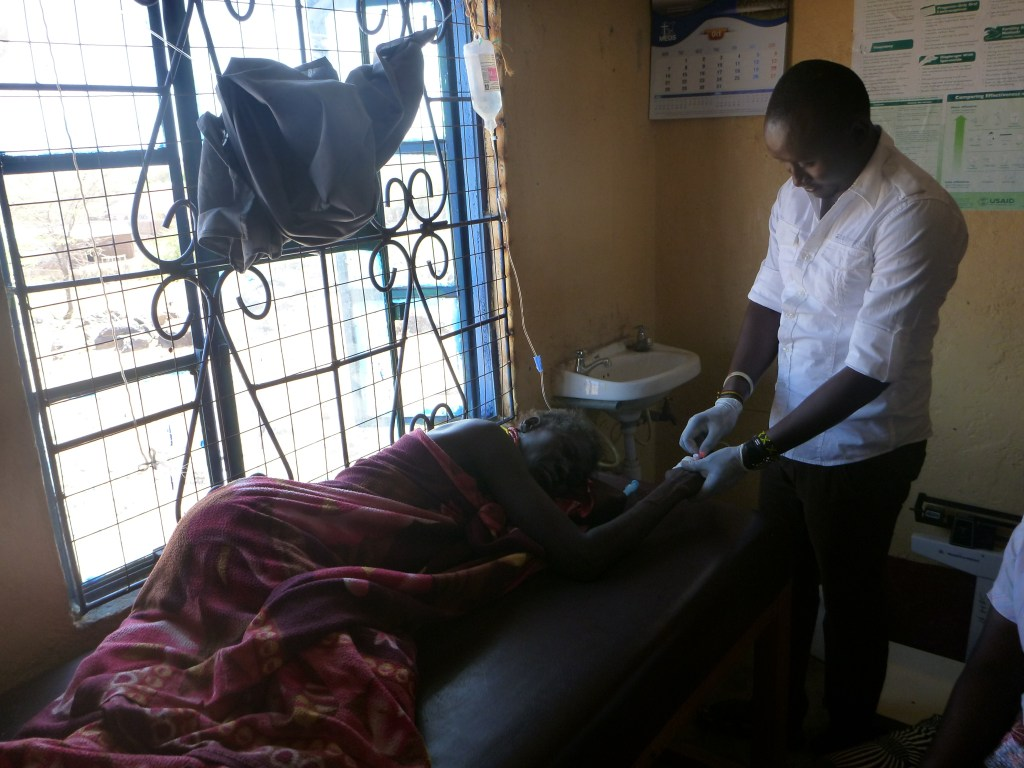 typhoid patient travels to receive care