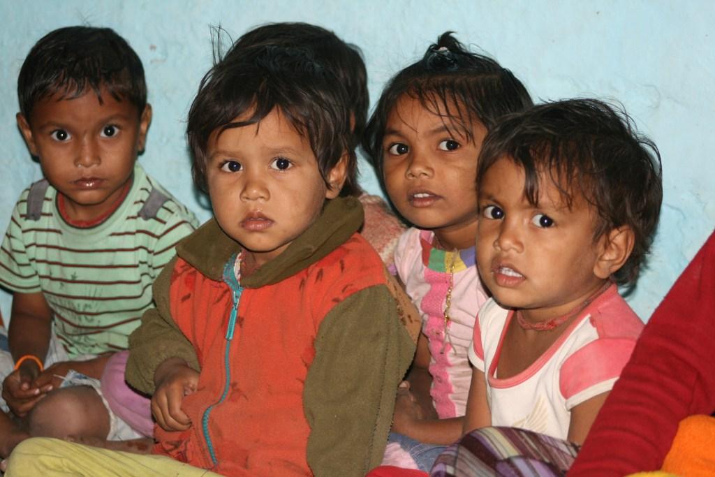 children attend a screening