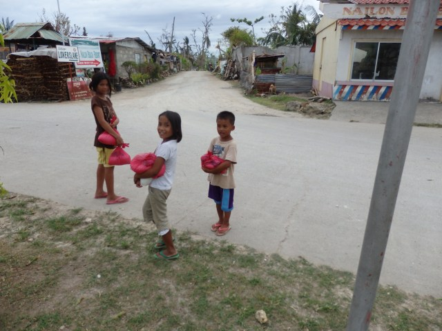 Children in front of Nailon Barangay Health Station