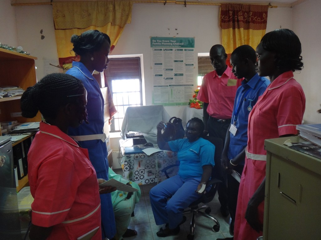 nursing and midwifery students in the family planning cllinic