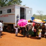 people waiting to be tested in alto molocue district