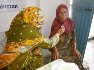 doctor providing care to woman