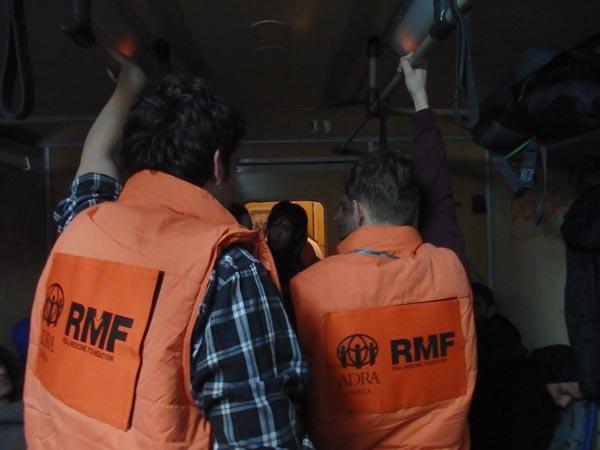 RMF staff on train