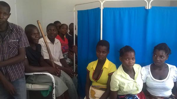 Couples attend a lecture about the importance of antenatal consultations