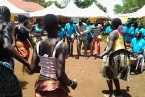 people dancing in celebration