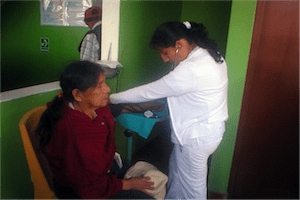 women receiving medical attention