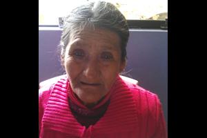 Peru Woman in Red