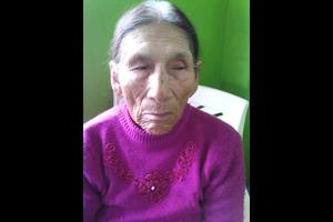 Peru Woman purple shirt 90