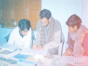 men studying together