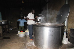 cooking in a school in uganda