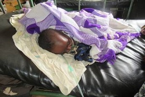 sick ugandan girl in hospital