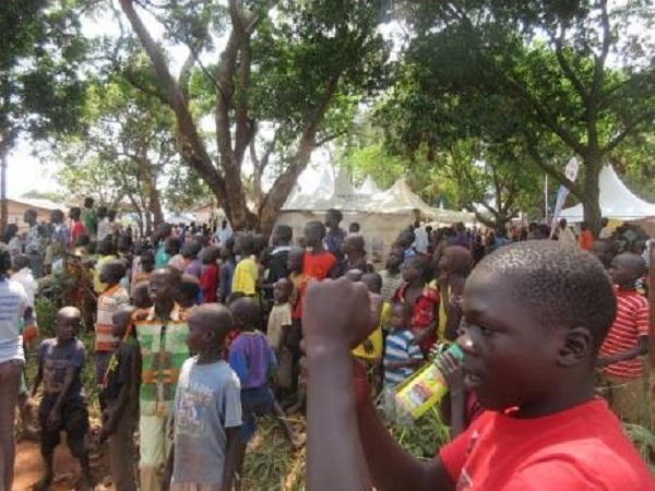a refugee rally in uganda