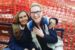 Marija with elderly patient