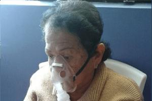 Liduvina Alburjas receives treatment