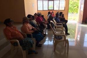 Patients wait during the Santa Cruz health campaign