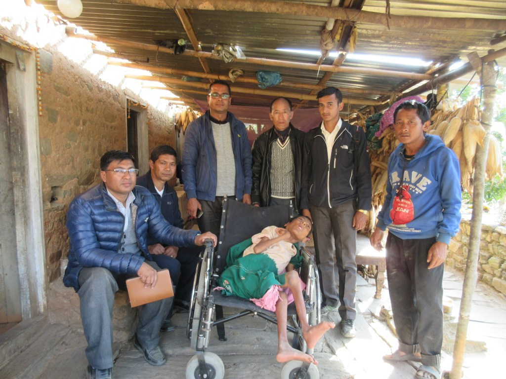 RMF's team with supervisors of the health posts, Mr. Buddha Lama, and his father