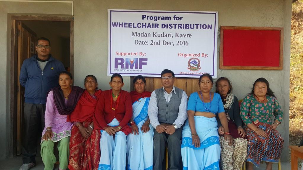 RMF Program Manager Ganesh Shrestha (center) with the FCHVs of Madan Kundari Health Post