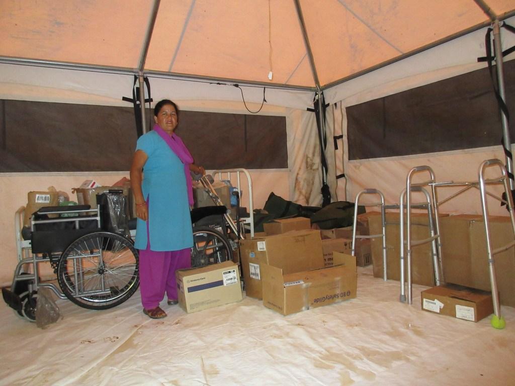 Consignment kept at Birta Deurali Health Post