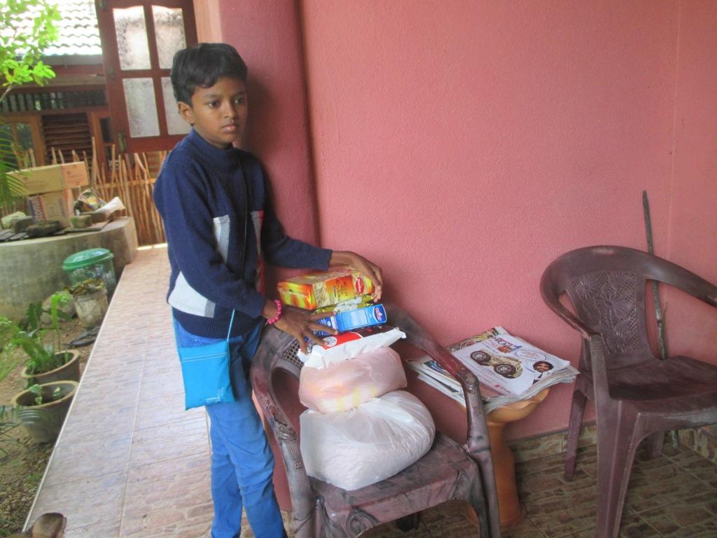 Madu with food parcel