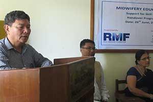 NAMS Vice Chancellor Dr. Ganesh Bahadur Gurung offering concluding remarks