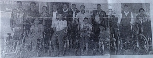 nepali newspaper feature wheelchair distribution