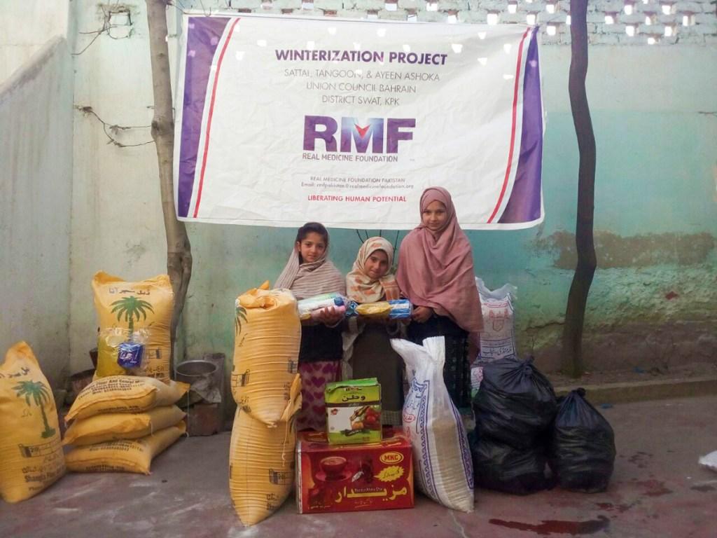 Girls Receiving Supplies