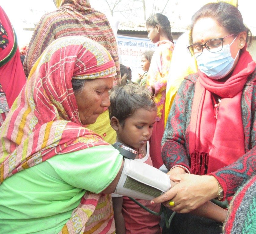 Patients receiving free health consultations.