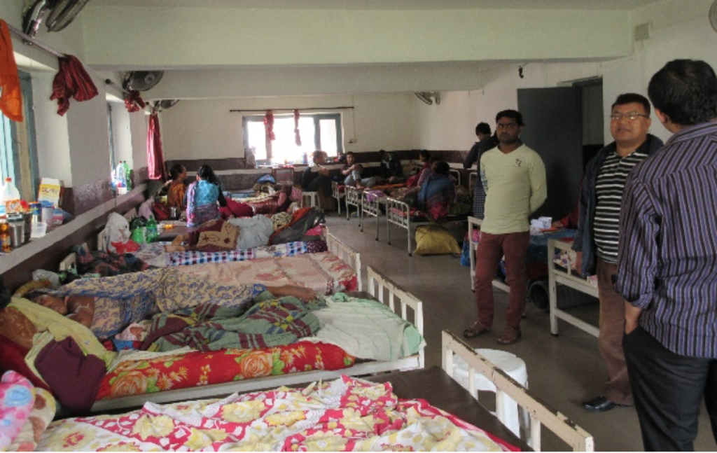 Lodging provided by RMF-supported SAV for patients' families who cannot afford a place to stay.