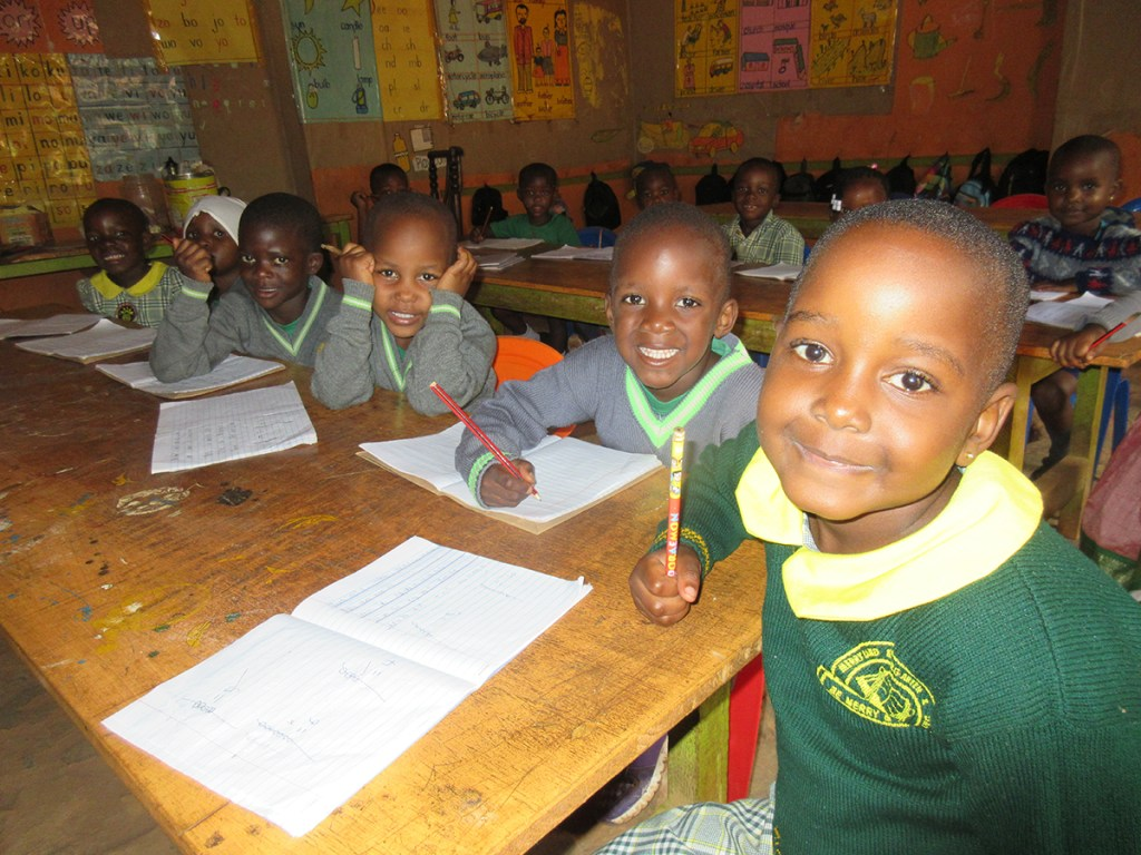 Children in class at the Precious Children's Centre